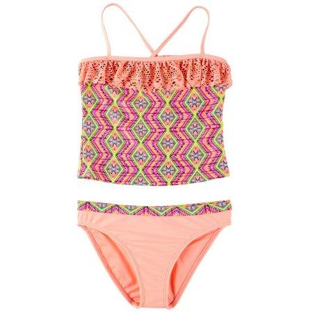 Angel Beach Big Girls Mirage Tankini Swimsuit