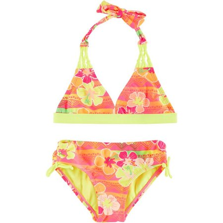 Breaking Waves Little Girls Sunset Bikini