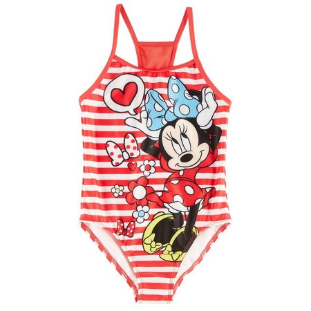 Disney Minnie Mouse Little Girls Swimsuit