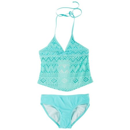 Malibu Dream Girls Big Girls Tankini Swimsuit