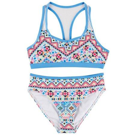 Jantzen Little Girls Tribal Racerback Bikini Swimsuit