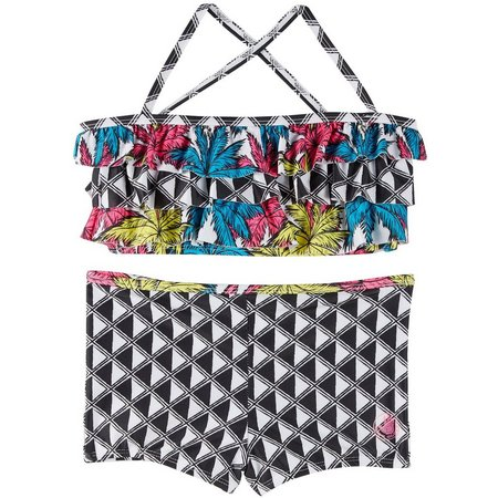 Body Glove Big Girls 2-pc. Palms Swimsuit