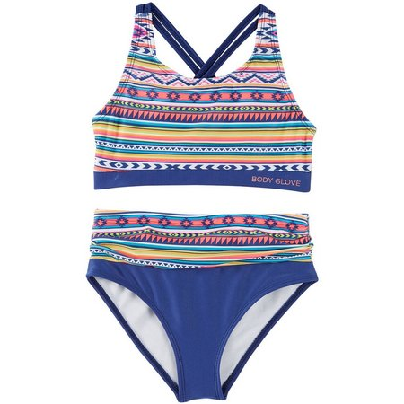 Body Glove Big Girls Aztec Bikini Swimsuit