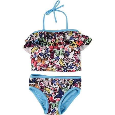 Penelope Mack Little Girls Rainbow Swimsuit