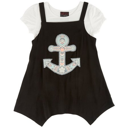 Miss Chievous Big Girls 2-pc. Anchor T-Shirt