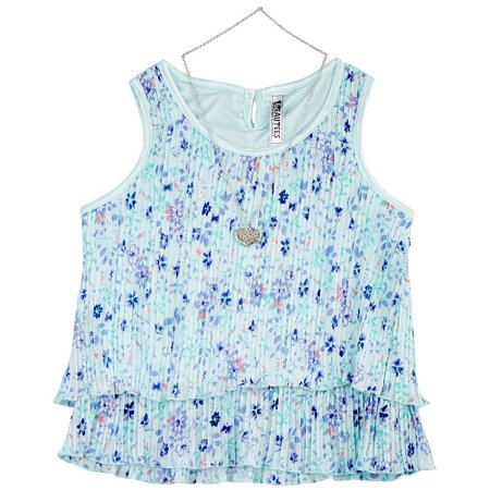 Beautees Big Girls Floral Tank Top
