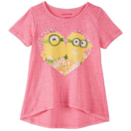 Despicable Me Big Girls Minions Heart T-Shirt