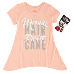 Stars & Sprinkles Big Girls Messy Hair T-Shirt