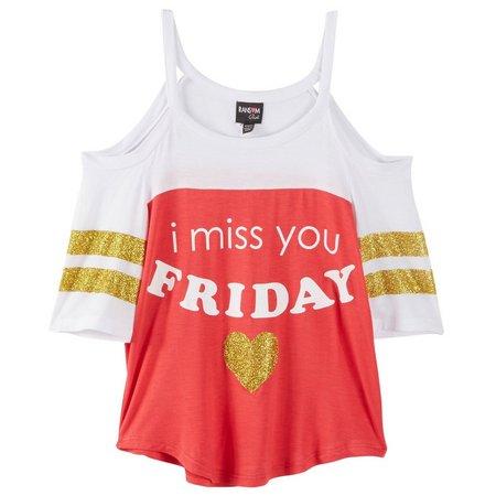 Ransom Girl Big Girls Miss You Friday T-Shirt