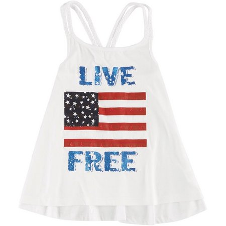 New! Freestyle Big Girls American Live Free Tank