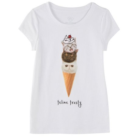 PS From Aeropostale Big Girls Cat Cone T-Shirt