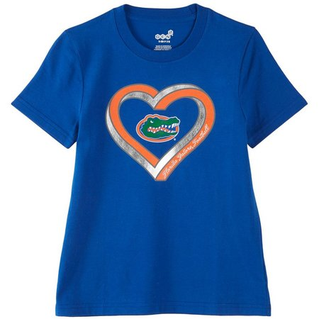 Florida Gators Big Girls Heart T-Shirt