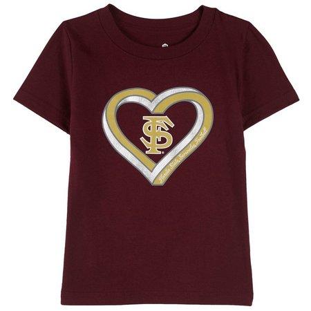 Florida State Big Girls Sparkle Heart T-Shirt