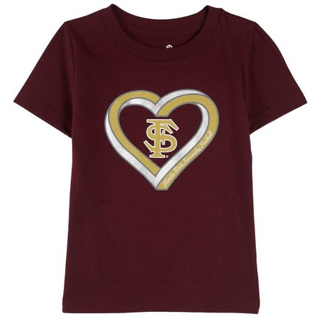 Florida State Big Girls Sparkle Heart T-Shirt
