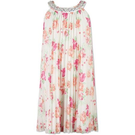 Speechless Big Girls Floral Pleated Dress