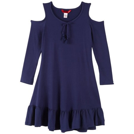 1st Kiss Big Girls Baby Doll Ruffle Dress