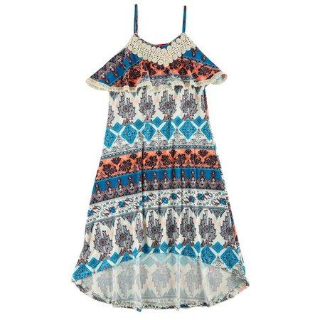 1st Kiss Big Girls Boho Elephant Crochet Dress