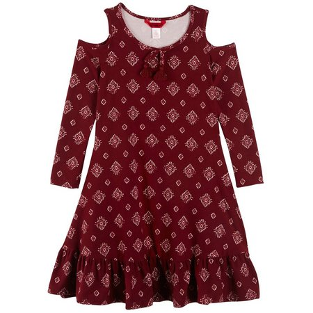 1st Kiss Little Girls Diamond Cold Shoulder Dress