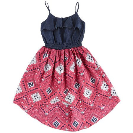 Dollhouse Little Girls Bandana High-Low Dress