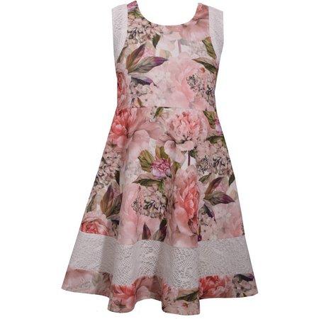 Bonnie Jean Little Girls Floral Scuba Dress