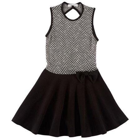 Obsessive Love Big Girls Chevron Top Dress