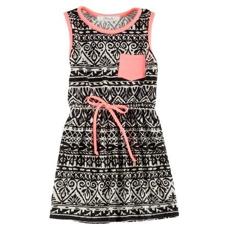 Kids Republic Little Girls Aztec Printed Dress