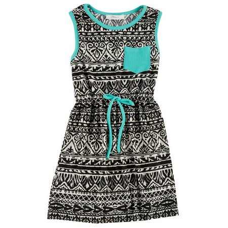Kids Republic Big Girls Aztec Pocket Dress