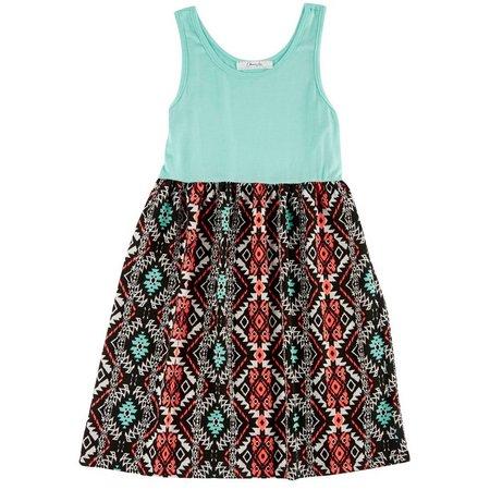 New! Kids Republic Big Girls Aztec Blocked Dress