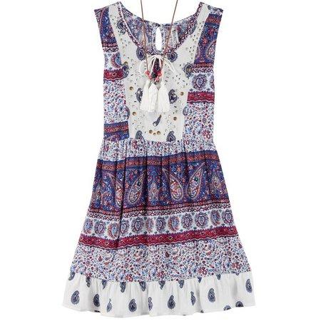 New! Beautees Big Girls Boho Dress