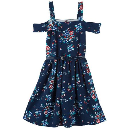 Beautees Big Girls Cold Shoulder Dress