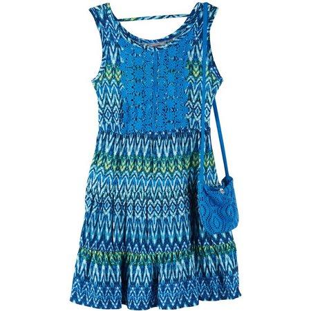 New! Beautees Little Girls Chevron Crochet Dress
