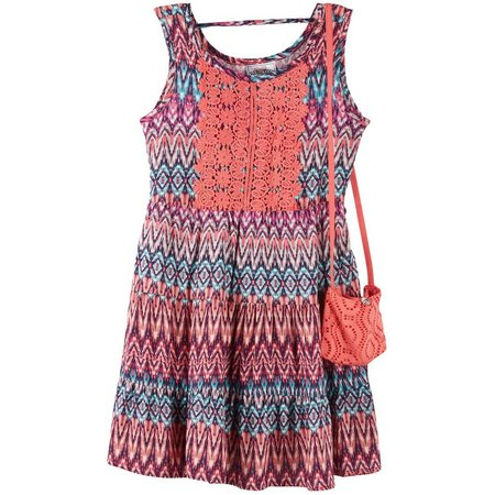 Beautees Little Girls Chevron Print Dress