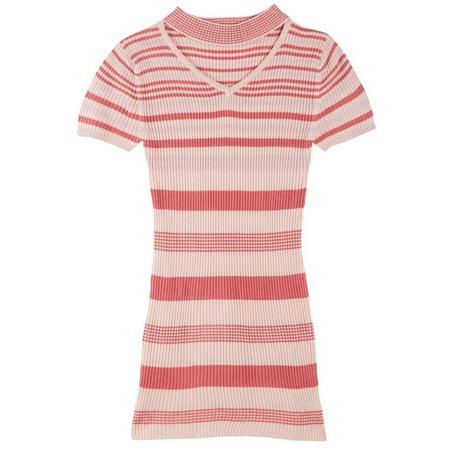 Derek Heart Girl Big Girls Stripe Dress