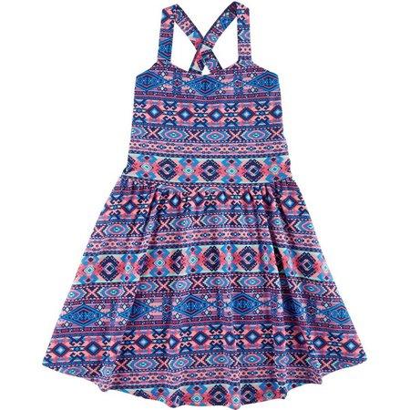 Derek Heart Girl Big Girls Aztec X-Back Dress