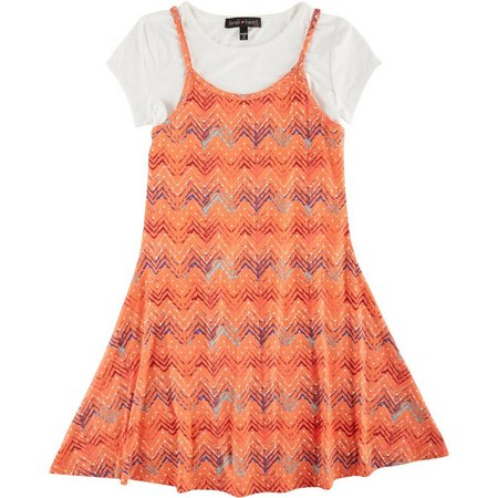Derek Heart Girl Big Girls T-Shirt Dress