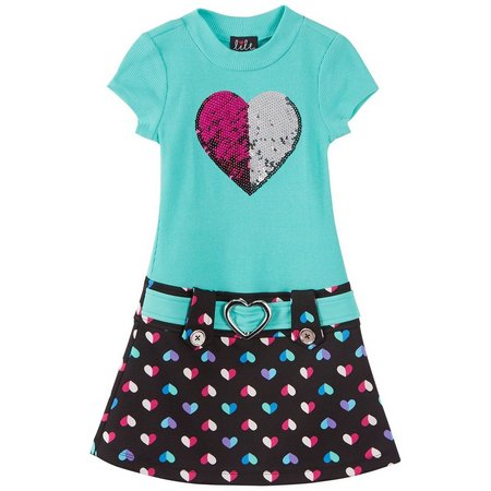 New! Lilt Little Girls Heart Marsha Dress