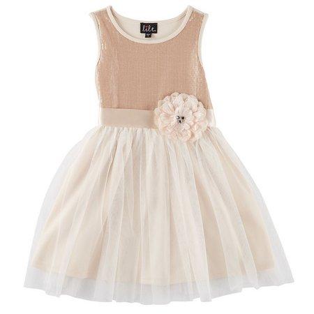 Lilt Little Girls Sequined Party Dress