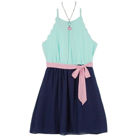 Amy Byer Big Girls Sleeveless Colorblock Dress