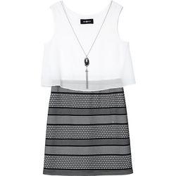 Amy Byer Big Girls Dot Stripe Popover Dress