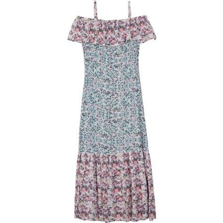 Amy Byer Big Girls Off Shoulder Flounce Dress