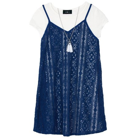 Amy Byer Big Girls Lace Duet Top