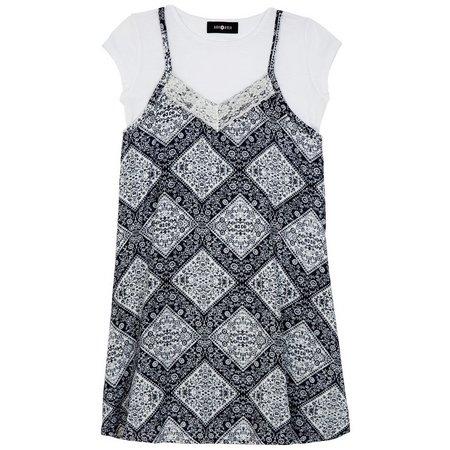Amy Byer Big Girls Diamond T-Shirt Dress