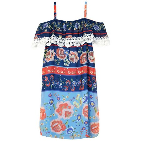 New! Amy Byer Big Girls Floral Off The