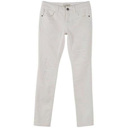 Vanilla Star Big Girls Distressed Skinny Jeans
