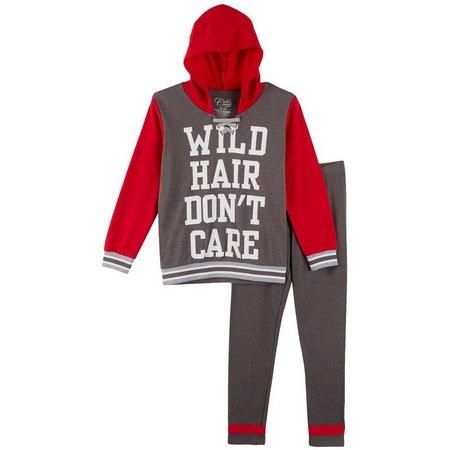 Cold Crush Big Girls Wild Hair Hooded Pants
