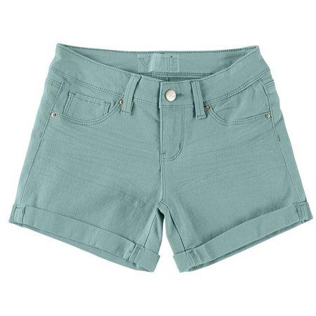 YMI Big Girls Roll Cuff Shorts