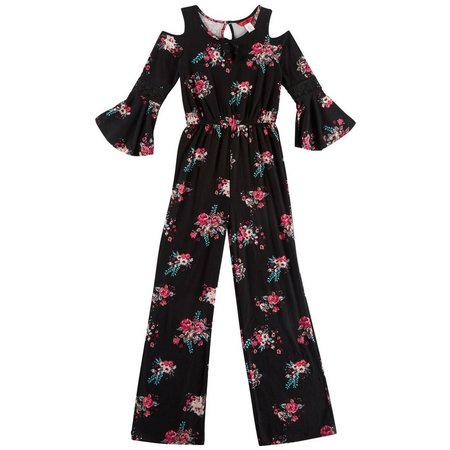 1st Kiss Big Girls Floral Jumpsuit