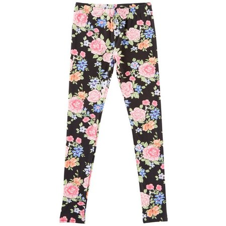 1st Kiss Big Girls Floral Print Leggings