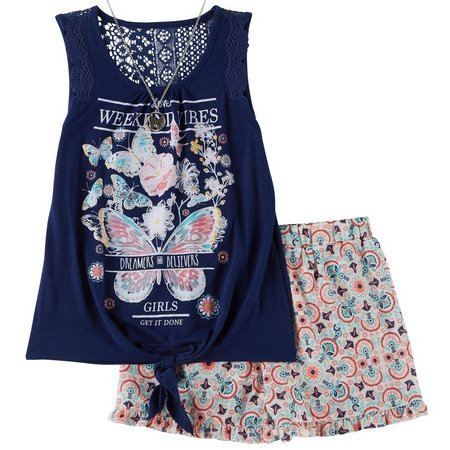 Belle Du Jour Big Girls Weekend Vibes Shorts