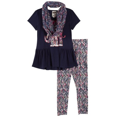 Belle Du Jour Big Girls 3-pc. Aztec Leggings